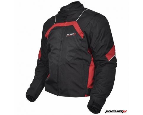 Куртка мотоциклетная City черно-красная
