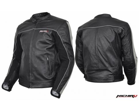 Куртка мотоциклетная Action черно-серебристая