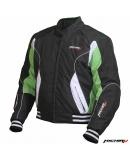 Куртка мотоциклетная Urban черно-зеленая