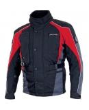 Куртка мотоциклетная Traveller ABS черно-красная