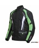 Куртка мотоциклетная Traveller черно-зеленая